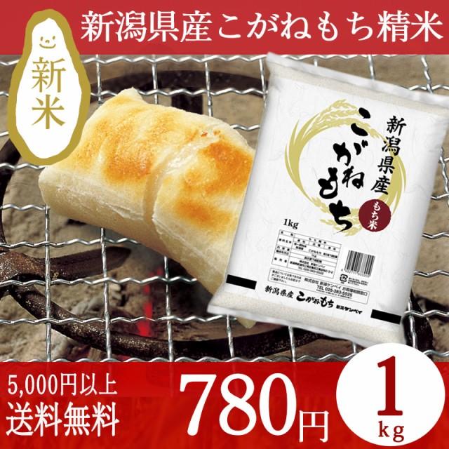 新潟産こがねもち精米 1kg 条件付送料無料 もち米 お餅 おこわ ブランド米 令和元年産