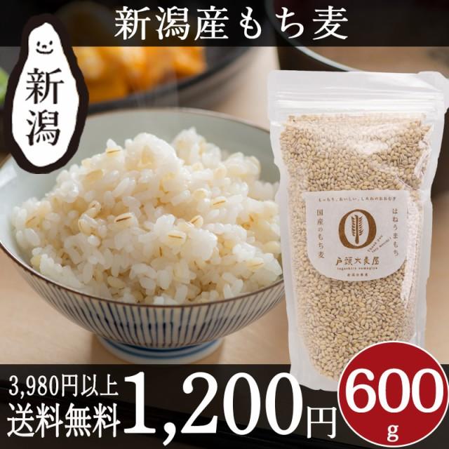 国産 もち麦 600g 新潟産 戸頭大麦屋 雑穀 はねうまもち 食物繊維 βグルカン 健康 お試し プチギフト