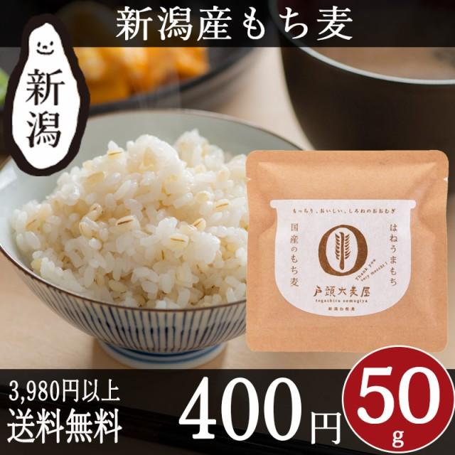 国産 もち麦 50g 新潟産 戸頭大麦屋 雑穀 はねうまもち 食物繊維 βグルカン 健康 お試し プチギフト