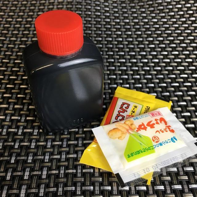 折戸の薬味セット「馬刺し専用醤油、にんにく、しょうが」