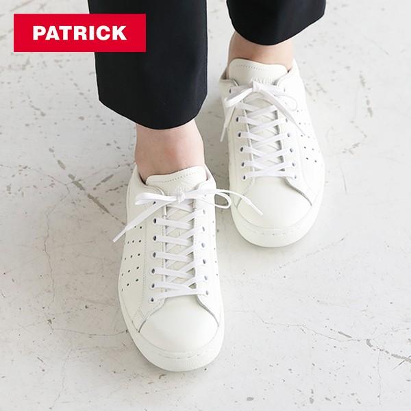 パトリック PATRICK パンチ14 / ホワイト レザーシューズ / スニーカー 靴 革靴 牛革 フラットシューズ フランス レディース 定番モデル