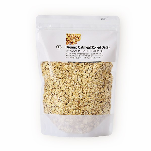 ナチュラルキッチン オーガニック・オートミール 300g [ オートミール オート麦 燕麦 低GI値 ] | オーツ麦 麦 穀物・豆・麺類 オーガニッ