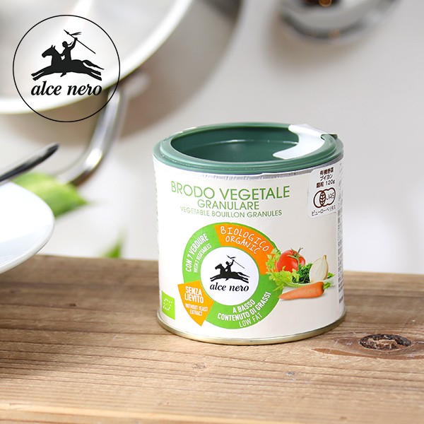 アルチェネロ(alce nero) 有機野菜ブイヨン・パウダータイプ 120g / 顆粒ブイヨン 粉末 オーガニック 有機JAS EU認証 香味野菜 ベジタ