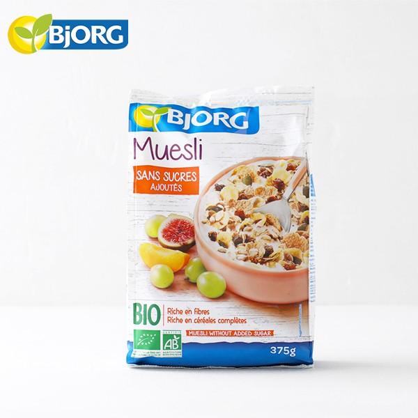 ビオルグ(Bjorg)ミューズリー フルーツ&シード 375g 砂糖不使用 シリアル オーガニック JAS 朝食 おやつ 料理 オーツ麦 イチジク アプ