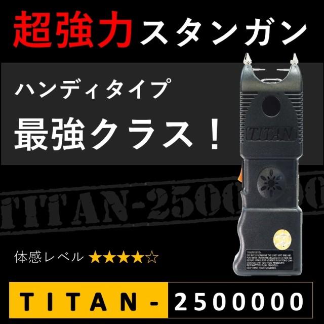 TITAN 充電式スタンガン 250万ボルト