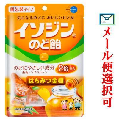 【メール便選択可】 イソジン のど飴 はちみつ金柑味 54g 個包装タイプ