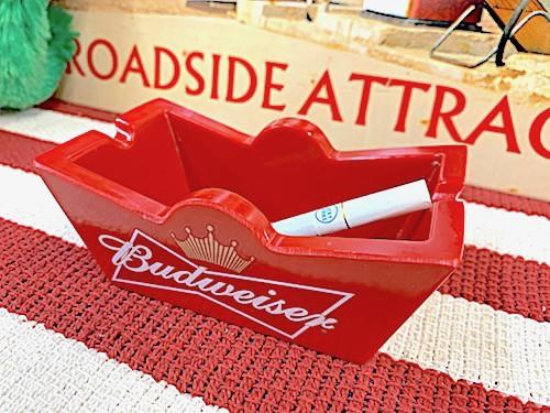 アメリカン雑貨 灰皿 アッシュトレイ Budweiser バドワイザー Beer ビール パブ バー グッズ 店舗 ガレージ