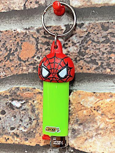 MARVEL スパイダーマン グッズ アメリカン雑貨 ライターキーパー ライターホルダー キーホルダー リップクリームキャップ