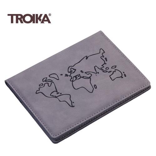 TROIKA(トロイカ) パスポートカバー、ウォッチアウト!、グレイ