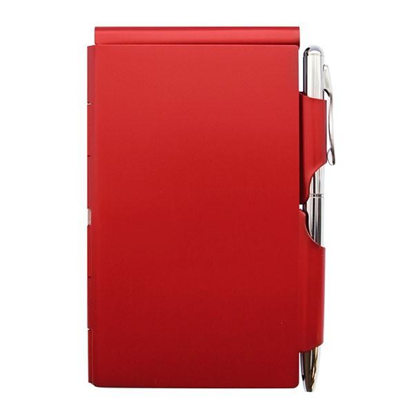 FLIP MEMO(フリップメモ) シングル、レッド FM-1004 ( ペン付きメモ帳 ペン付きメモ ペン付きメモノート メモ帳 手帳 ノート ブランド