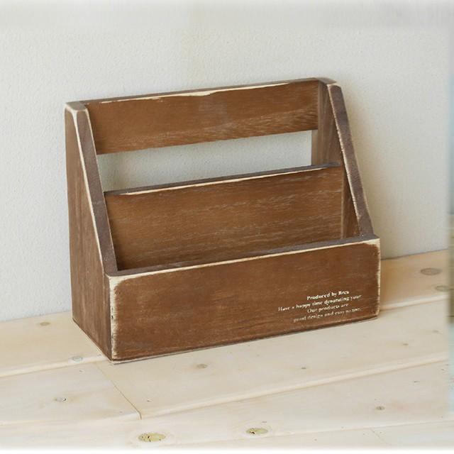 【BREA】【レターラック小 アンティーク】はがき/手紙/壁掛け/レタースタンド/木製