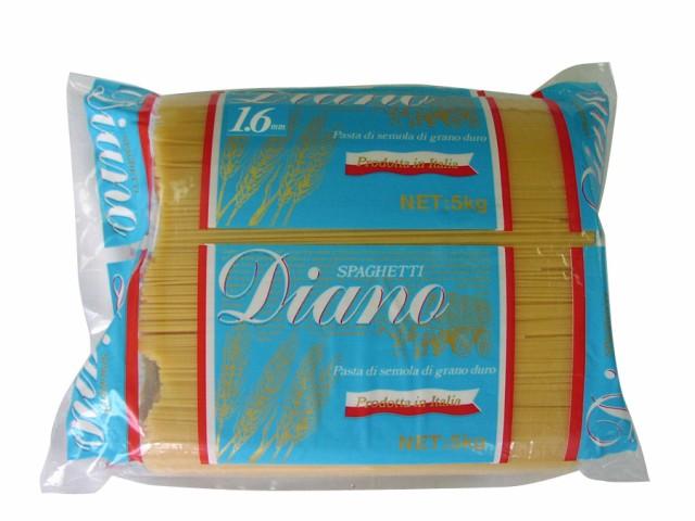 業務用サイズ Diano スパゲッティ 1.6mmたっぷり5kg 送料無料 パスタ 麺 乾麺