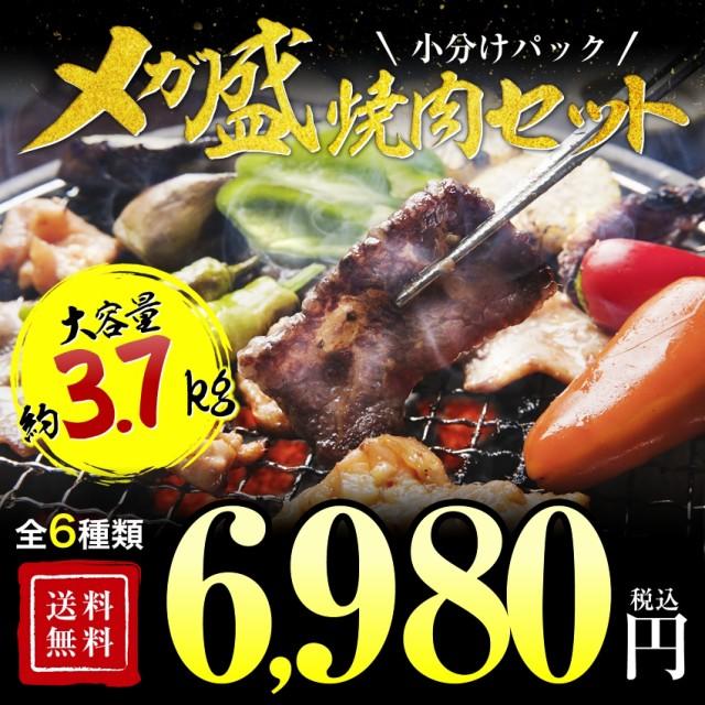 送料無料 焼肉 BBQ バーベキュー 焼き肉 15人前3キロセット ハラミ 訳あり でない