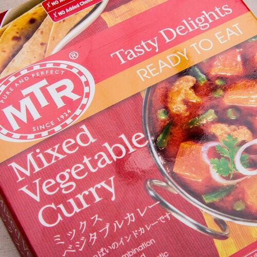 レトルトカレー MTR ミックス ベジタブル カレー Mixed Vegetable Curry 300g 1袋 2人前 ゆうメール便対応