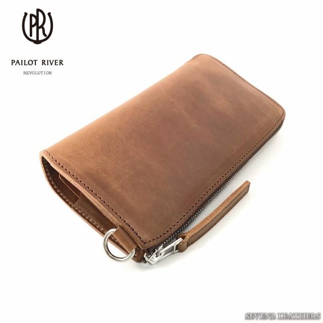 c6a885435b61 パイロットリバー PAILOT RIVER 長財布 ロングウォレット L型ファスナー イタリアンレザー カードケース メンズ