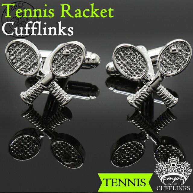 カフス テニスラケット スポーツ カフスボタン | カフス カフスボタン カフリンクス カフスリンクス 選手 メンズ シャツ 結婚式 かっこい