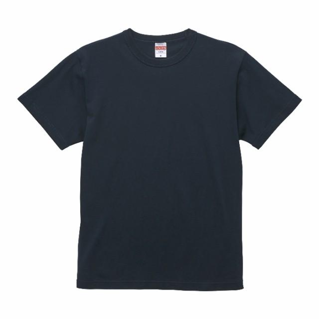 Tシャツ 半袖 メンズ バインダーネック ヘビー オープンエンド 6.0oz M サイズ ディープネイビー 無地 ユナイテッドアスレ CAB