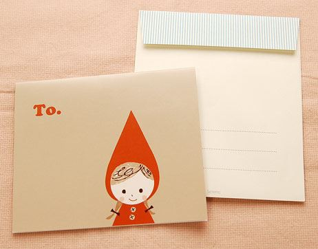 Shinzi Katoh シンジカトウ 【カード赤ずきん おめでとう】(グリーティング メッセージ 手紙 誕生日 お祝い キャラクター かわいい 童話