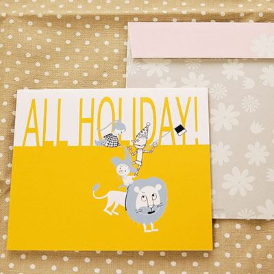 Shinzi Katoh シンジカトウ 【カードOZ happy holiday】(グリーティング メッセージ 手紙 お祝い キャラクター かわいい 童話 寄せ書き)