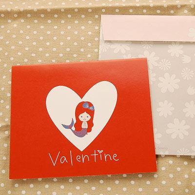 Shinzi Katoh シンジカトウ 【カード人魚姫 バレンタイン】(グリーティング メッセージ 手紙 キャラクター かわいい 童話 寄せ書き)