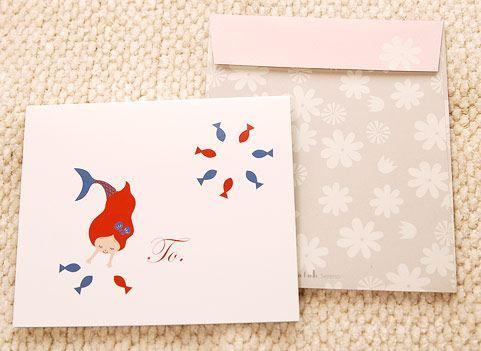 Shinzi Katoh シンジカトウ 【カード人魚姫 happy birthday】(グリーティング メッセージ 手紙 誕生日 お祝い キャラクター かわいい 童