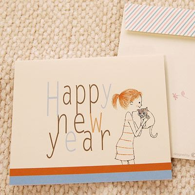 Shinzi Katoh シンジカトウ 【カードcheri happy new year】(グリーティング メッセージ 新年 あけましておめでとう 年賀 キャラクター