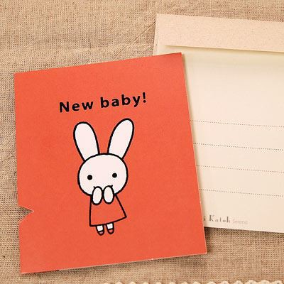 Shinzi Katoh シンジカトウ 【カードrabbit talk 出産祝い】(グリーティング メッセージ 手紙 出産 祝い キャラクター うさぎ かわいい