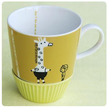 Shinzi Katoh シンジカトウ 【ダンダン マグ hey!】(かわいい ギフト セット 子供 食器 おしゃれ カップ コーヒー カフェ 動物 北欧 くま
