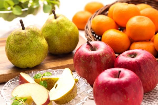 お歳暮 フルーツ ギフト りんご&みかん&ラ・フランス詰合せ (AD)