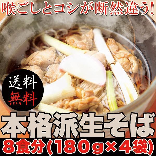 本格派生そば8食(180g×4袋)【送料無料】