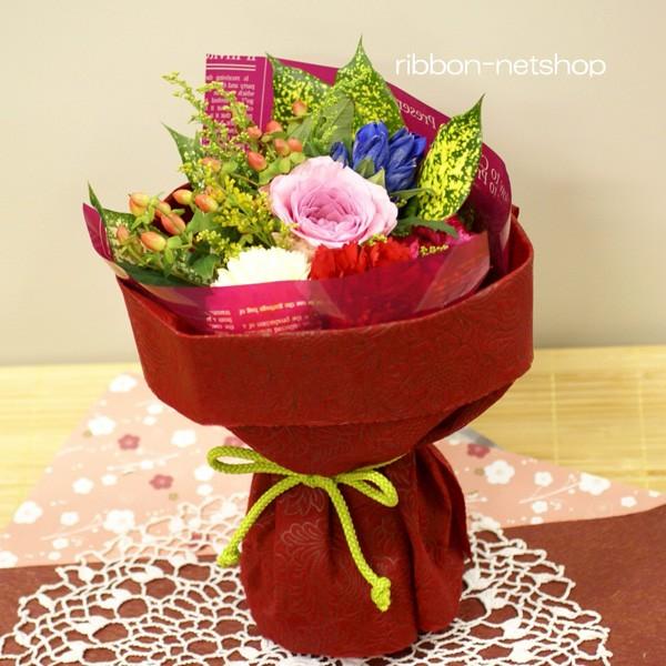 【送料無料】【敬老の日】【生花・花束】季節のお花のスタンディングブーケ FL-KR-01