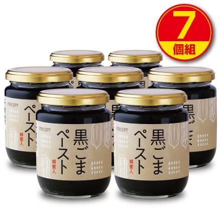 【新登場】黒ごまペースト(蜂蜜入)230g(7個組) はちみつ・加工黒糖使用 (保存料・着色料無添加)【送料無料】
