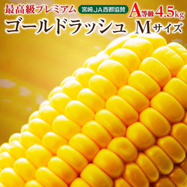 とうもろこし 生とうもろこし 送料無料 宮崎産ゴールドラッシュ Mサイズ 約4.5kg(18本) 産地直送 新鮮
