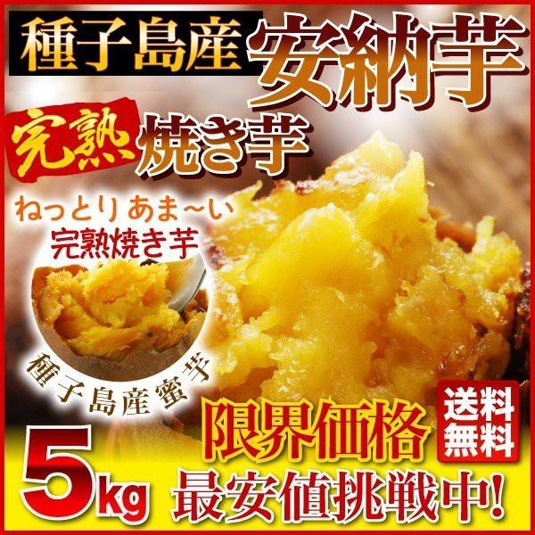 さつまいも 安納芋 焼き芋(やきいも)鹿児島 5kg 送料無料 簡単 時短調理 冷凍焼き芋 完熟安納芋焼き芋 クール