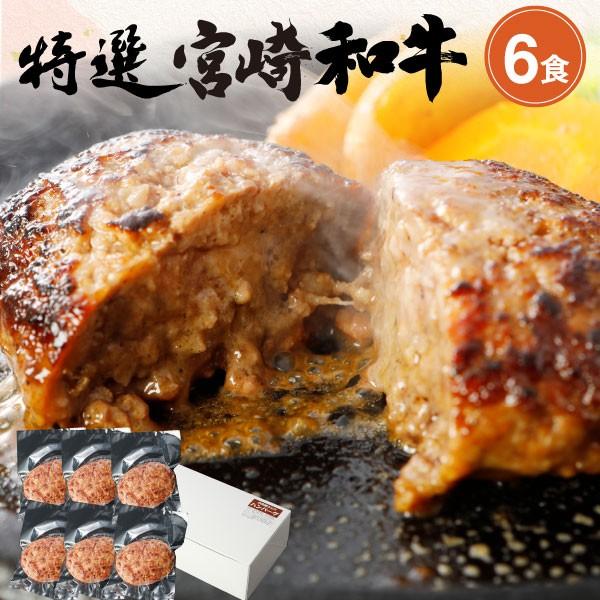 手ごねハンバーグ 黒毛和牛100% 150g×6食セット 宮崎県産 送料無料 真空パック 小分け 贈答品 クール