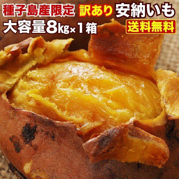安納芋 さつまいも 訳あり 鹿児島 種子島産 安納いも 蜜芋 (8kg x 1箱) 2S〜Lサイズ混合 送料無料 生芋