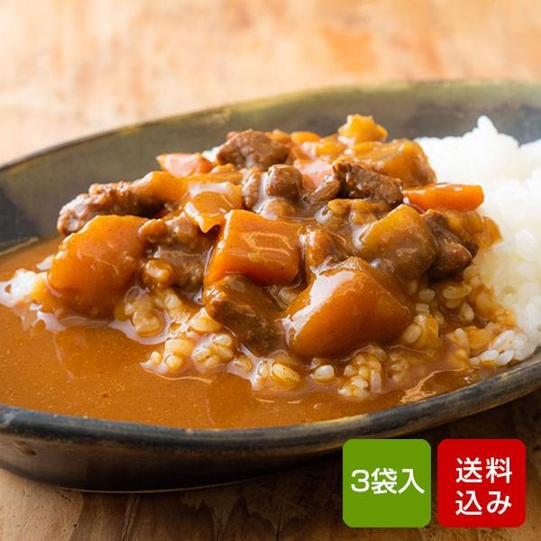 宮崎県産牛100% ビーフカレー 200g×3食 国産 レトルト カレー 常温保存