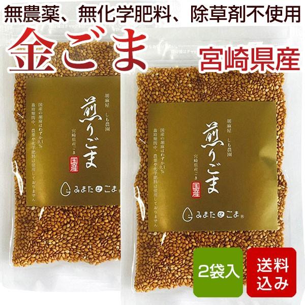 金ごま 煎りごま 35g 無農薬 無化学肥料 除草剤不使用 宮崎県産
