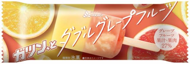 赤城乳業  アイス ガツン、と ダブルグレープフルーツ 24本入  送料無料(北海道、九州、沖縄は除く)
