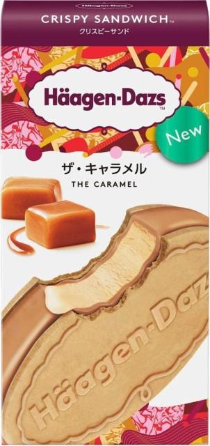 ハーゲンダッツ アイスクリーム  クリスピーサンド ザ・キャラメル 60ml×12個入
