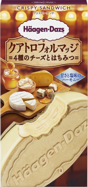 ハーゲンダッツ クリスピーサンド クアトロフォルマッジ4種のチーズとはちみつ 【60ml×12個】アイスクリーム 期間限定
