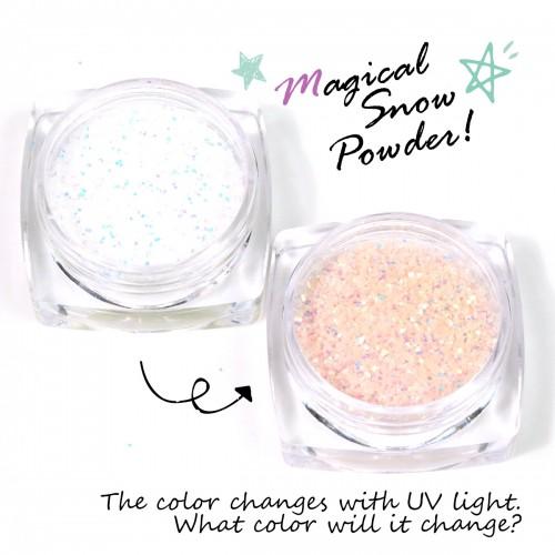 【封入素材】紫外線で色が変わる魔法の粉!!マジカルスノーパウダー【UV 変色 オレンジ ラメ 砂 】