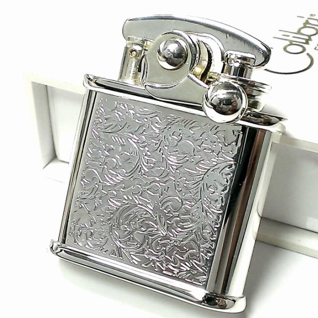 オイルライター Colibri コリブリ シルバー 唐草 アラベスク レトロ フリント ライター 両面加工 かっこいい メンズ ブランド おしゃれ