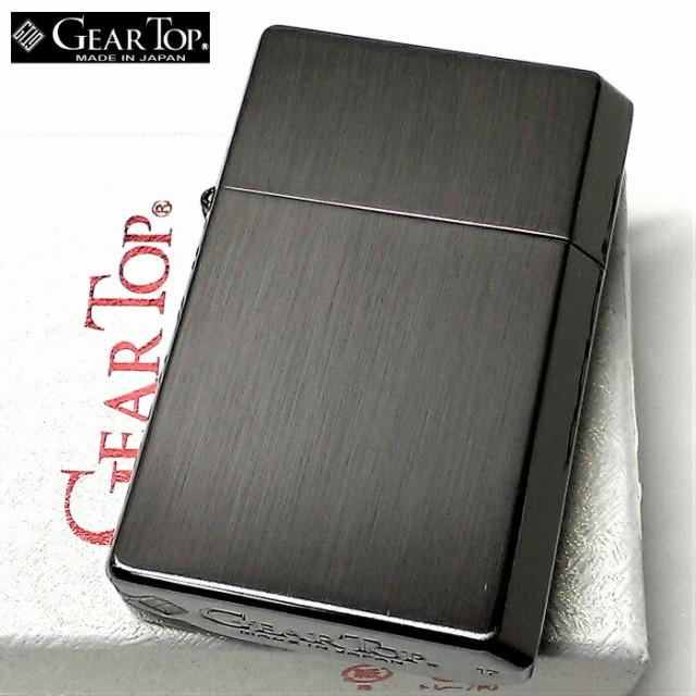 オイルライター ギアトップ 日本製 ライター ブラックニッケルサテン 黒 GEAR TOP おしゃれ シンプル 重厚 かっこいい 国産品 ギフト
