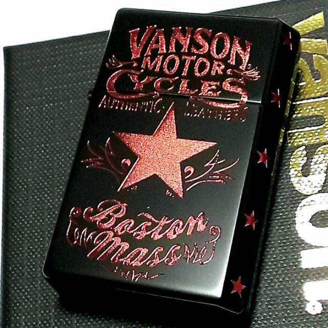 オイルライター バンソン×ギアトップ 日本製 ライター ブランド マットブラック 黒 重厚 かっこいい おしゃれ GEAR TOP×VANSON 国産品