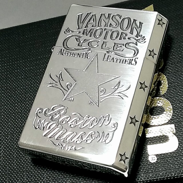 オイルライター バンソン×ギアトップ 日本製 ライター ブランド シルバーイブシ スター 重厚 かっこいい おしゃれ