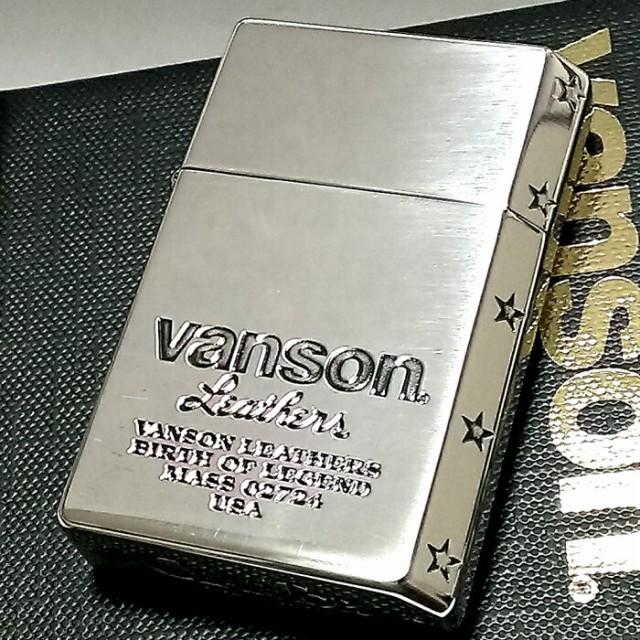 オイルライター バンソン×ギアトップ 日本製 ブランド シルバーイブシ ロゴデザイン 重厚 かっこいい GEAR TOP×VANSON 国産品