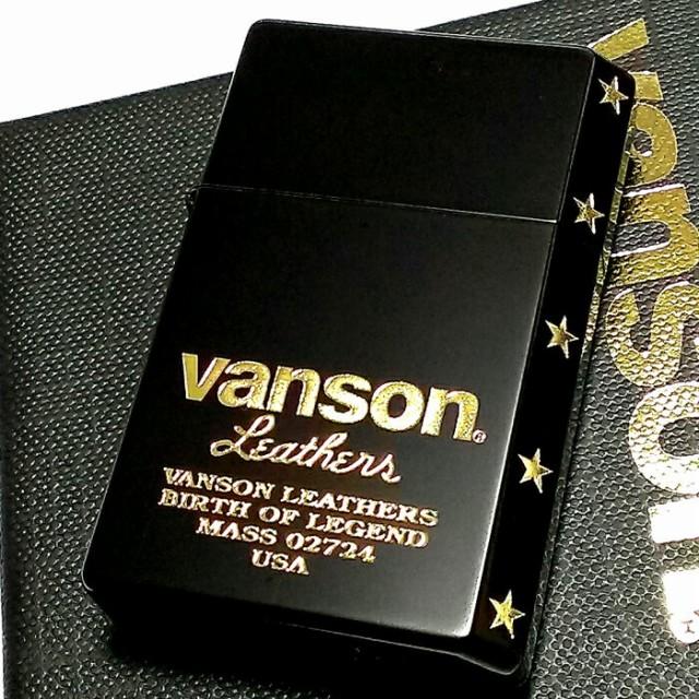 オイルライター バンソン×ギアトップ 日本製 ライター ブランド ロゴデザイン マットブラック 黒 金 重厚 かっこいい 国産品