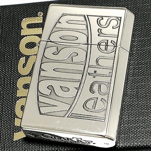 オイルライター バンソン×ギアトップ 日本製 ライター ブランド ロゴデザイン シルバーイブシ 銀 重厚 GEAR TOP×VANSON 国産品 メンズ