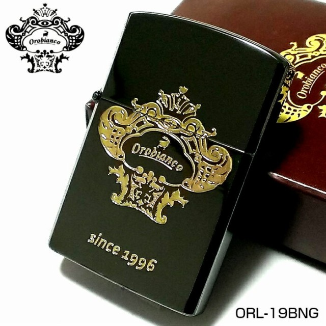 オイルライターオロビアンコ Orobianco ブラックニッケル ゴールドロゴ かっこいい ブランド ジッポ型ライター メンズ プレゼント